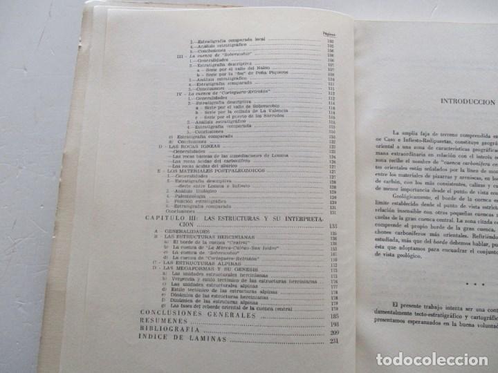 Libros de segunda mano: Estudios geológico del reborde oriental de la cuenca carbonífera central de Asturias. RM86069 - Foto 3 - 118885195
