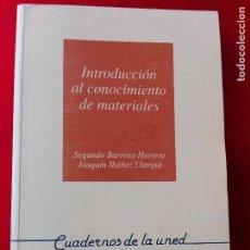 Libros de segunda mano de Ciencias: INTRODUCCIÓN AL CONOCIMIENTO DE MATERIALES-CUADERNOS UNED-1996-3ªREIMPRESIÓN-BUEN ESTADO-VER FOTOS.. Lote 118948215