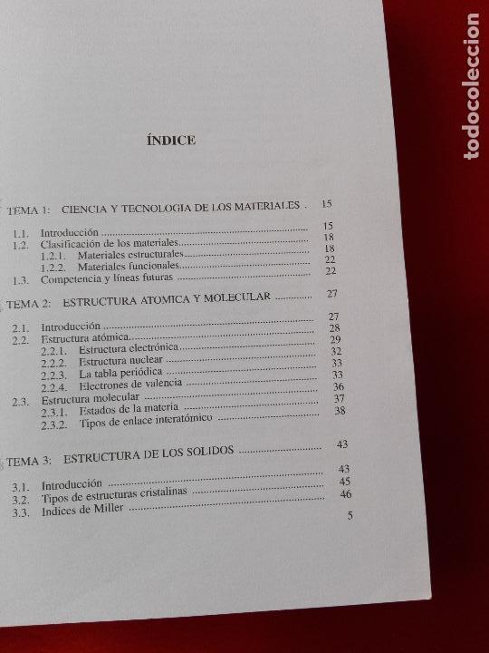 Libros de segunda mano de Ciencias: introducción al conocimiento de materiales-cuadernos uned-1996-3ªreimpresión-buen estado-ver fotos. - Foto 5 - 118948215