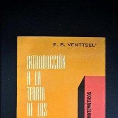 Libros de segunda mano de Ciencias: INTRODUCCION A LA TEORIA DE LOS JUEGOS. TEMAS MATEMATICOS. ELENA S. VENTTSEL. LIMUSA WILEY 1973 MEXI. Lote 119083267
