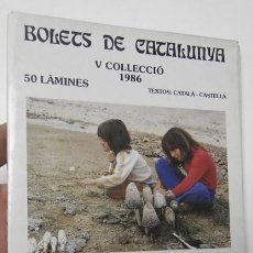 Libros de segunda mano: BOLETS DE CATALUNYA. V. 1986. 50 LÀMINES. Lote 119109575