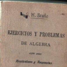 Libros de segunda mano de Ciencias: EJERCICIOS Y PROBLEMAS DE ALGEBRA. VV.AA. A-ESC-1644. Lote 119119307