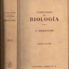 Libros de segunda mano: PIERANTONI : COMPENDIO DE BIOLOGÍA (LABOR, 1943). Lote 119319731