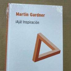 Libros de segunda mano de Ciencias: ¡AJÁ, INSPIRACIÓN!, MARTIN GARDNER BIBLIOTECA DESAFÍOS MATEMÁTICOS RBA. Lote 119933819