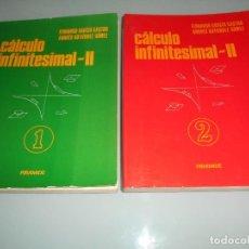 Libros de segunda mano de Ciencias: X-.CÁLCULO INFINITESIMAL II - TOMOS 1 Y 2 - PIRÁMIDE !GRAN OCASIÓN !. Lote 120760411
