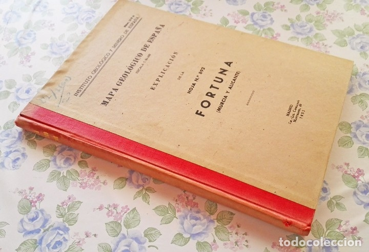 Libros de segunda mano: 1953 Mapa geologico Fortuna Murcia y Alicante geologia geografia - Foto 2 - 39341334