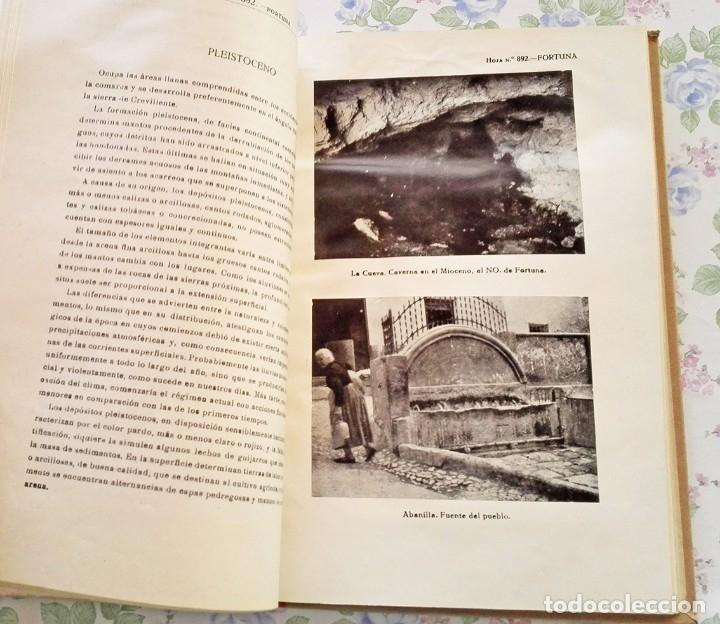 Libros de segunda mano: 1953 Mapa geologico Fortuna Murcia y Alicante geologia geografia - Foto 3 - 39341334