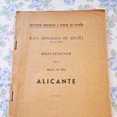 Libros de segunda mano: 1946 MAPA GEOLÓGICO ALICANTE GEOLOGIA GEOGRAFIA. Lote 42829251