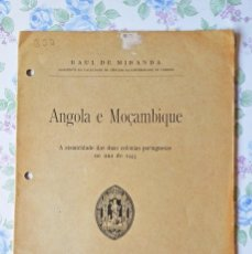 Libros de segunda mano: 1945 ANGOLA E MOÇCAMBIQUE A SISMICIDADE RAUL MIRANDA MOZAMBIQUE SISMICIDAD. Lote 55371704