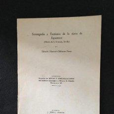 Livros em segunda mão: EDUARDO ALASTRUÉ. ESTRATIGRAFÍA Y TECTÓNICA DE LA SIERRA DE ESPARTEROS (MORÓN DE LA FRONTERA). 1948.. Lote 120966651