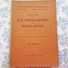 Livres d'occasion: 1944 TOMO XLII - Nº 5 AL 6 BOLETÍN REAL SOCIEDAD ESPAÑOLA HISTORIA NATURAL CIENCIAS. Lote 39401360