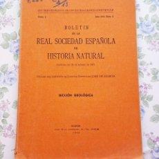 Libros de segunda mano: 1952 GEOLOGÍA TOMO L - Nº 2 BOLETÍN REAL SOCIEDAD HISTORIA NATURAL CIENCIAS. Lote 121134427