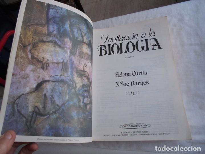Libros de segunda mano: INVITACION A LA BIOLOGIA.HELENA CURTIS/N.SUE BARNES.EDITORIAL PANAMERICANA 1987 - Foto 2 - 121444955