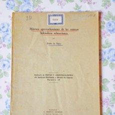 Libros de segunda mano: 1948 PEDRO NOVO - MÁXIMO APROVECHAMIENTO CUENCAS HIDRÁULICAS SUBTERRÁNEAS LIBRO GEOLOGÍA. Lote 127246642