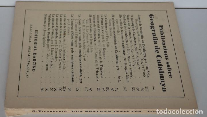 Libros de segunda mano: Els nostres insectes – Converses de divulgació entomològica - Colecció Popular Barcino - Foto 2 - 121521403