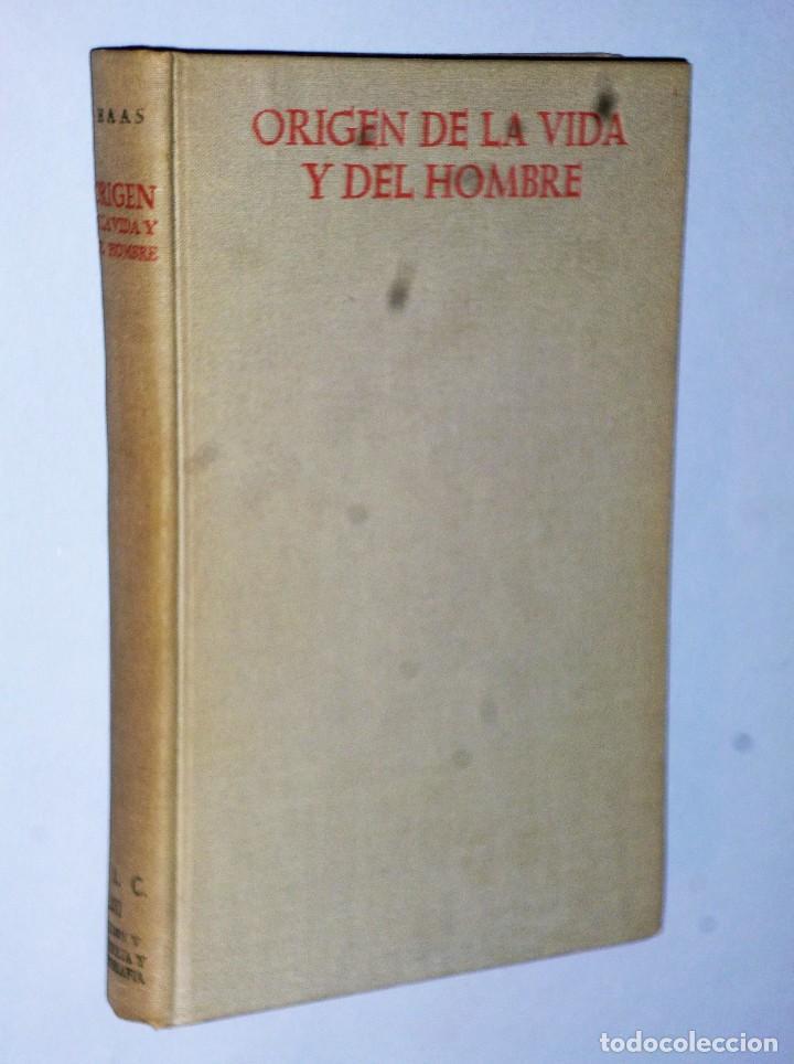 ORIGEN DE LA VIDA Y DEL HOMBRE (Libros de Segunda Mano - Ciencias, Manuales y Oficios - Paleontología y Geología)