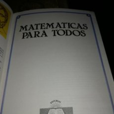 Libros de segunda mano de Ciencias: MATEMATICAS PARA TODOS,ED.HORIZONTE.. Lote 122032883