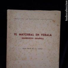 Libros de segunda mano: EL MATORRAL EN YEBALA. MARRUECOS ESPAÑOL. J. RUIZ DE LA TORRE 1955. Lote 122141608