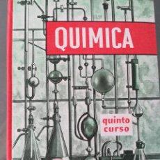 Libros de segunda mano de Ciencias: QUIMICA--QUINTO CURSO-EDELVIVES-1966-NUEVO TOTALMENTE-IMPECABLE. Lote 122224899