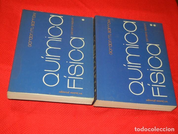 QUMICA FISICA, GORDON M.BARROW - ED.REVERTE 1975 2VOLS (Libros de Segunda Mano - Ciencias, Manuales y Oficios - Física, Química y Matemáticas)