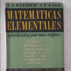 Libros de segunda mano de Ciencias: GEOMETRIA. MATEMATICAS ELEMENTALES. ESTUDIADAS POR UNO MISMO. LAS QUE EL ARTESANO Y EL PROFESIONAL A. Lote 122340103