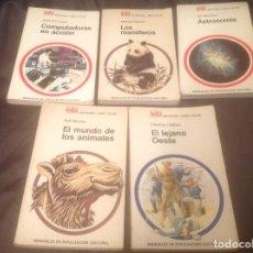 Libros de segunda mano: 5 LIBROS BRUGUERA AÑOS 70 COLECCIÓN MANUALES DE DIVULGACIÓN CULTURAL NÚMEROS 5,17,18,19,24. Lote 122592619