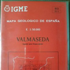 Libros de segunda mano: MAPA GEOLÓGICO DE ESPAÑA. VALMASEDA. Lote 122596431