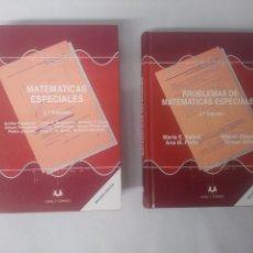 Libros de segunda mano de Ciencias: PROBLEMAS DE MATEMATICAS ESPECIALES. . ED.SANZ Y TORRES. Lote 152700234