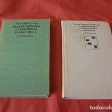Libros de segunda mano de Ciencias: PROBLEMAS Y TEORÍA DE LAS PROBABILIDADES Y DE ESTADÍSTICA MATEMÁTICA - V.E. GMURMAN. Lote 122682123