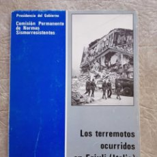 Livres d'occasion: 1076 SISMOLOGÍA TERREMOTOS OCURRIDOS EN FRIULI ITALIA. Lote 122909935