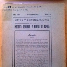 Libros de segunda mano: NOTAS Y COMUNICADOS NUM. 55 INSTITUTO GEOLÓGICO DE ESPAÑA 1959. VARIOS ARTÍCULOS.. Lote 123393983