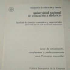 Libros de segunda mano de Ciencias: CURSO PROFESORES MERCANTILES FACULTAD CIENCIA ECONOMICA EMPRESARIALE.POLITICA ECONOMI EMPRESA.SUB 6. Lote 123575683