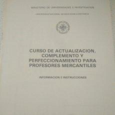 Libros de segunda mano de Ciencias: CURSO ECONOMICAS EMPRESARIALE.CURSO CAJA DE AHORRO INFORMACION INSTRUCCIONES. CURSO 1979-80. Lote 123577102