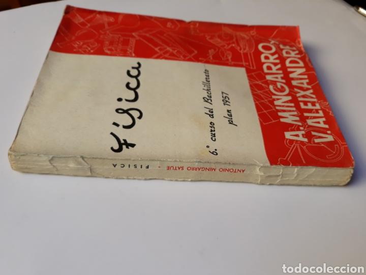 Libros de segunda mano de Ciencias: Ciencias física - física 6º curso del bachillerato plan 1957 Mingarro Summa 1971 - Foto 2 - 123580492