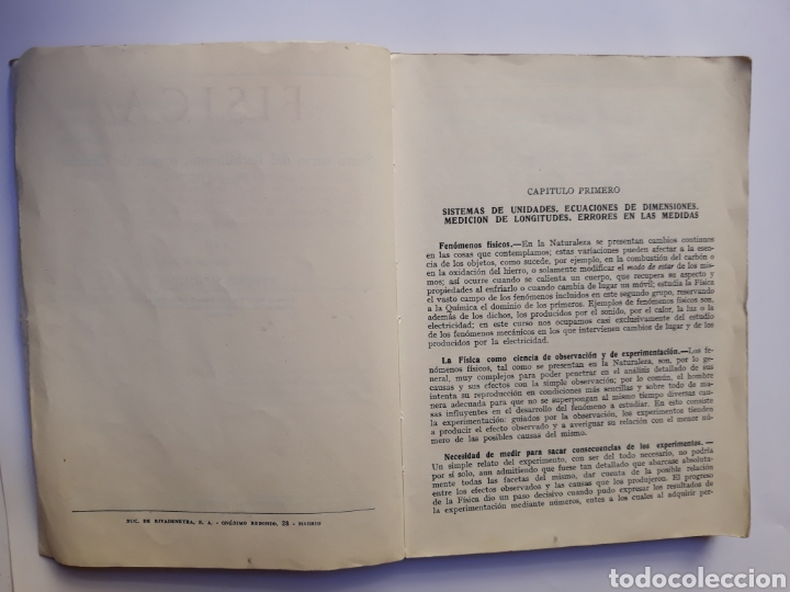 Libros de segunda mano de Ciencias: Ciencias física - física 6º curso del bachillerato plan 1957 Mingarro Summa 1971 - Foto 7 - 123580492