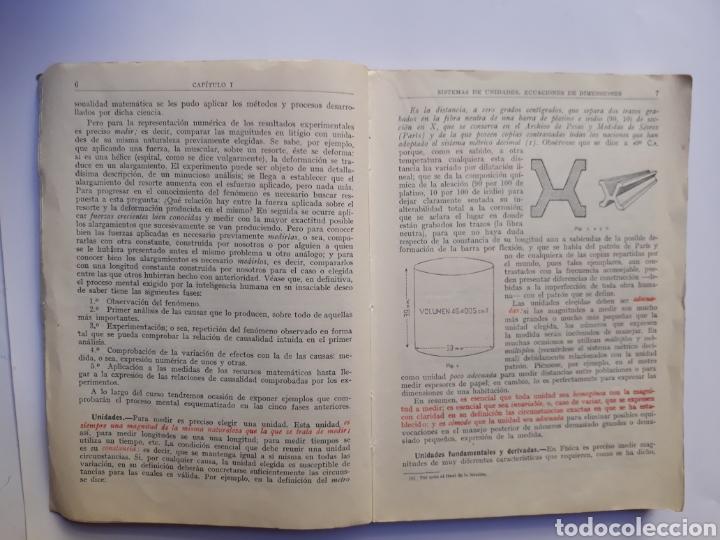 Libros de segunda mano de Ciencias: Ciencias física - física 6º curso del bachillerato plan 1957 Mingarro Summa 1971 - Foto 8 - 123580492
