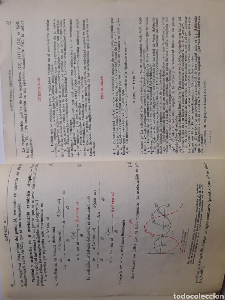 Libros de segunda mano de Ciencias: Ciencias física - física 6º curso del bachillerato plan 1957 Mingarro Summa 1971 - Foto 9 - 123580492