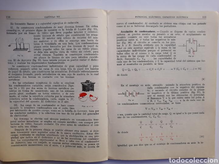 Libros de segunda mano de Ciencias: Ciencias física - física 6º curso del bachillerato plan 1957 Mingarro Summa 1971 - Foto 10 - 123580492