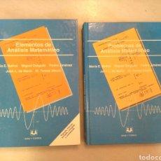 Libros de segunda mano de Ciencias: ELEMENTOS DE ANALISIS MATEMATICO. PROBLEMAS DE ANALISIS MATEMATICO. M. E. BALLVE. M. DELGADO. Lote 123807819