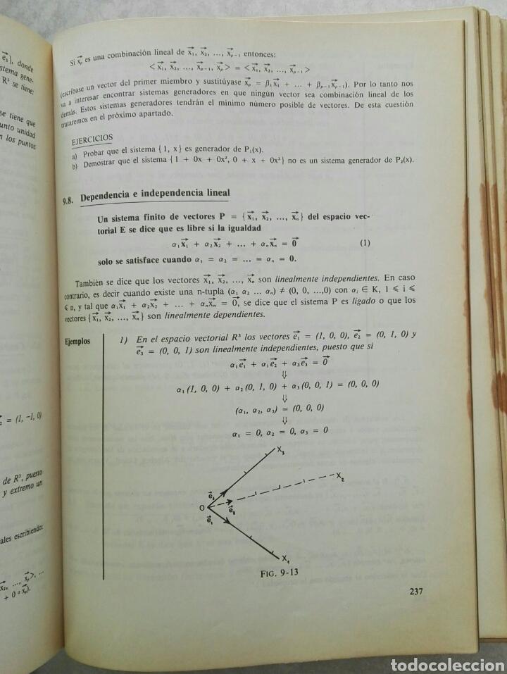 Libros de segunda mano de Ciencias: Álgebra lineal y geometría curso teórico-práctico Jose García García - Foto 2 - 124583552