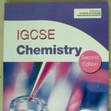 Libros de segunda mano de Ciencias: IGCSE CHEMISTRY - UNIVERSITY OF CAMBRIDGE INTERNATIONAL EXAMINATIONS - CON DISCO - 2012 - VER INDICE. Lote 124602803