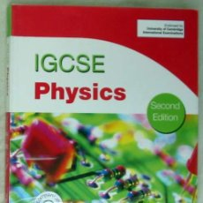 Libros de segunda mano de Ciencias: IGCSE PHYSICS - UNIVERSITY OF CAMBRIDGE INTERNATIONAL EXAMINATIONS - CON DISCO - 2012 - VER INDICE. Lote 124603439