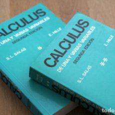 Libros de segunda mano de Ciencias: SATURNINO L. SALAS Y EINAR HILLE. CALCULUS DE UNA Y VARIAS VARIABLES. 2 TOMOS. ED. REVERTÉ, 1991. Lote 124683915