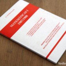 Libros de segunda mano de Ciencias: J. L. SÁNCHEZ PALACIO. MATEMÁTICAS I — 1987/1988. Lote 124684571