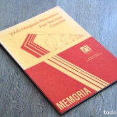 Libros de segunda mano de Ciencias: ANTONI GIL I TRILLES (EDITOR). XXXI OLIMPIADA MATEMÁTICA. FASE NACIONAL. CASTELLÓN. Lote 124699055