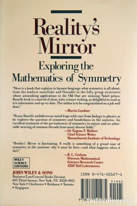 Libros de segunda mano de Ciencias: Bryan Bunch. Reality's Mirror: Exploring the Mathematics of Symmetry - Foto 2 - 124704979