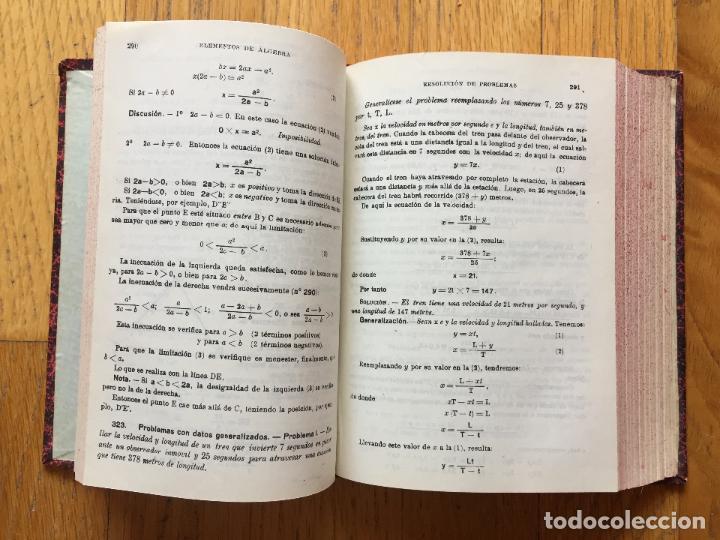 Libros de segunda mano de Ciencias: ELEMENTOS DE ALGEBRA, Ediciones Bruño, 3 Edicion - Foto 2 - 124754911