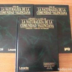 Libros de segunda mano: LA NATURALEZA DE LA COMUNIDAD VALENCIA. TRES TOMOS. DIARIO LEVANTE. NUEVOS.. 1989.. Lote 133826247