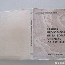 Libros de segunda mano: J. A. MARTÍNEZ ÁLVAREZ RASGOS GEOLÓGICOS DE LA ZONA ORIENTAL DE ASTURIAS. RMT86787. Lote 125428087
