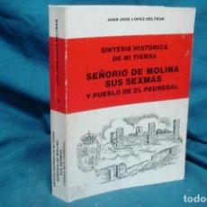 Libros de segunda mano: SEÑORIO DE MOLINA SUS SEXMAS - J. JOSÉ LOPEZ BELTRAN - ED. DOMENECH 1981 1ª EDICIÓN. Lote 125690527
